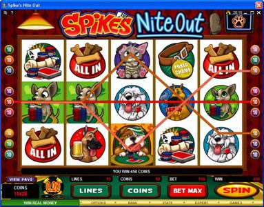 Platinum Play featuring the Video Slots Spike's Nite Out with a maximum payout of $30,000