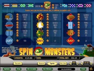 Celtic featuring the Video Slots Spin Monsters with a maximum payout of $7,500