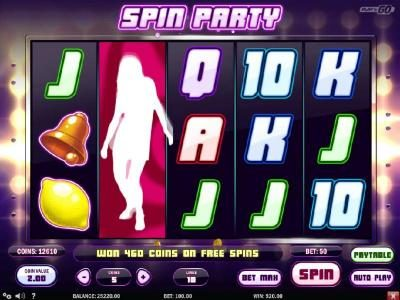 7 Gods Casino featuring the Video Slots Spin Party with a maximum payout of $2,500,000