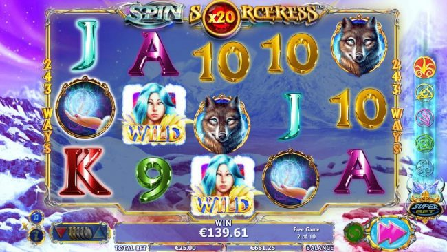 Play slots at Casiplay: Casiplay featuring the Video Slots Spin Sorceress with a maximum payout of $1,000