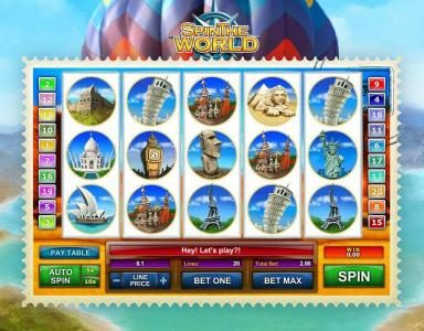 Pamper featuring the Video Slots Spin the World with a maximum payout of $5,000