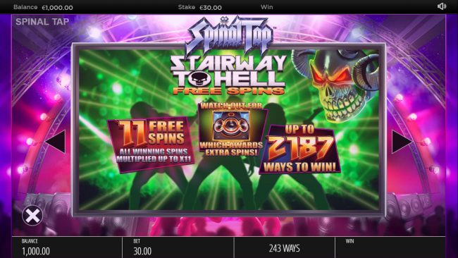Spinal Tap :: Free Spins Rules