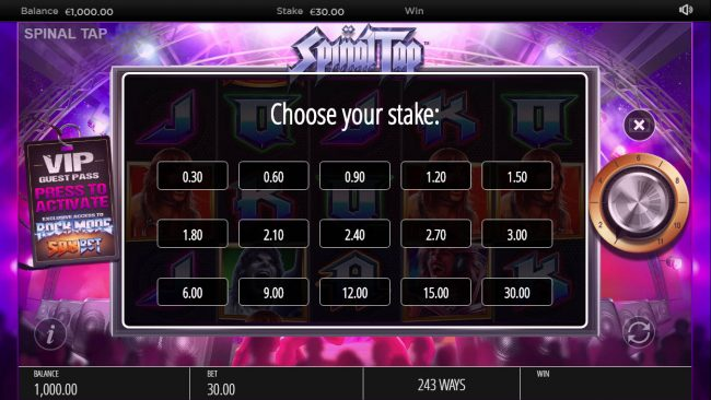 Spinal Tap :: Betting Options