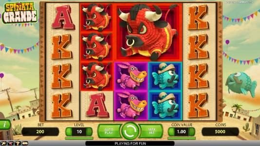 Jellybean Casino featuring the Video Slots Spinata Grande with a maximum payout of $3,000