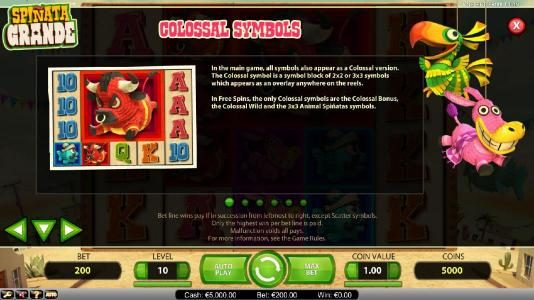 Orientxpress featuring the Video Slots Spinata Grande with a maximum payout of $3,000