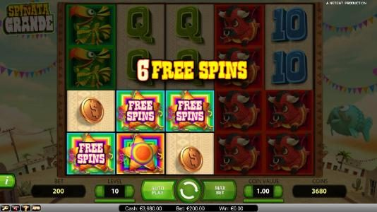 Diamond Club VIP featuring the Video Slots Spinata Grande with a maximum payout of $3,000