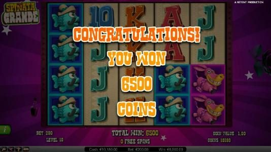 Leo Vegas featuring the Video Slots Spinata Grande with a maximum payout of $3,000