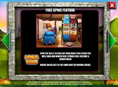 Spinderella :: Free Spins Feature - rules and how to play.