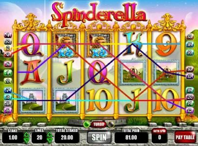 Spinderella :: Another big win triggered by multiple winning paylines and x3 wilds.