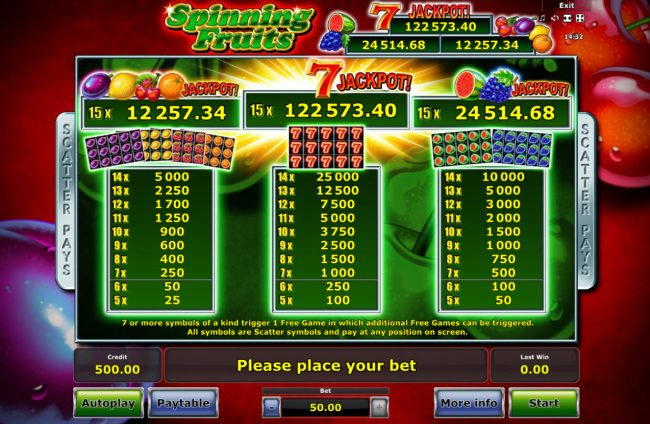 Play slots at Casumo: Casumo featuring the Video Slots Spinning Fruits with a maximum payout of Jackpot