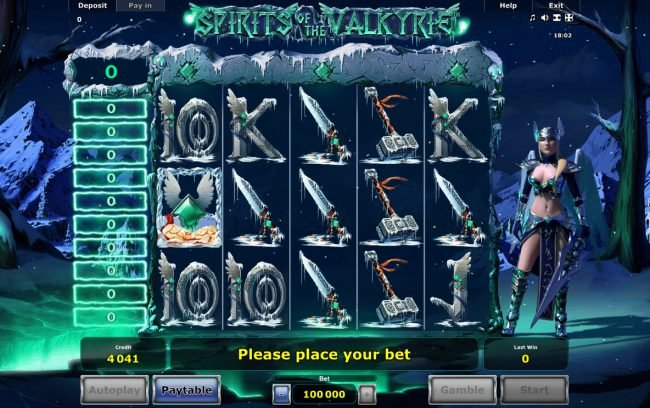 Casumo featuring the Video Slots Spirits of Valkyrie with a maximum payout of $2,500,000