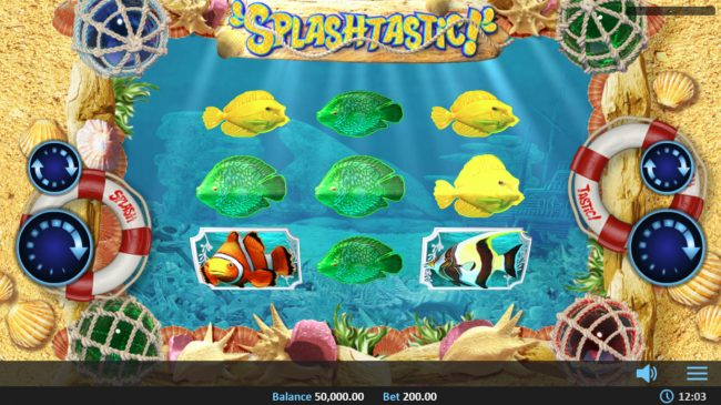 Red Queen featuring the Video Slots Splashtastic with a maximum payout of $50,000