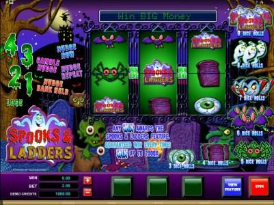 House of Jack featuring the Video Slots Spooks & Ladders with a maximum payout of $20,000
