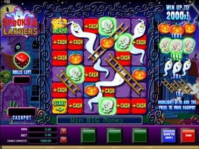 Players Palace featuring the Video Slots Spooks & Ladders with a maximum payout of $20,000