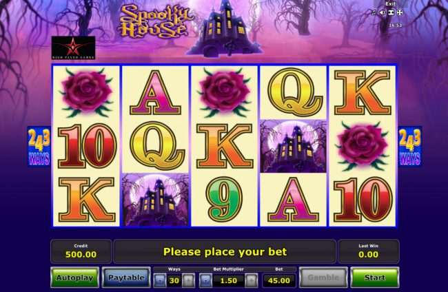 Genting featuring the Video Slots Spooky House with a maximum payout of $182,250
