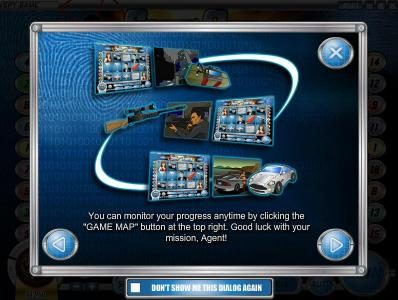 Black Diamond featuring the Video Slots Spy Game with a maximum payout of $4,000