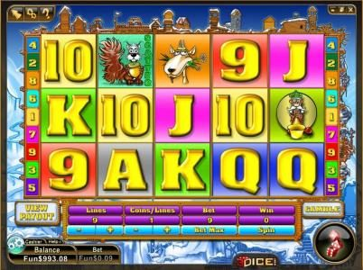 3Dice featuring the Video Slots Squirrel Pike with a maximum payout of $3,300