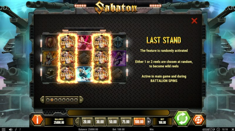 Sabaton :: Last Stand Feature Rules