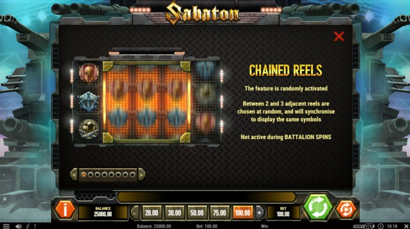 Sabaton :: Chained Reel Feature Rules