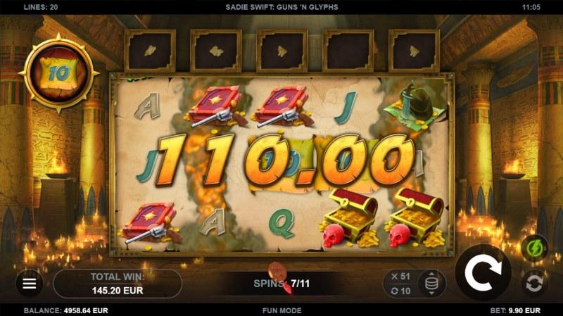 Sadie Swift Gun's n Glyphs :: Multiple winning combinations