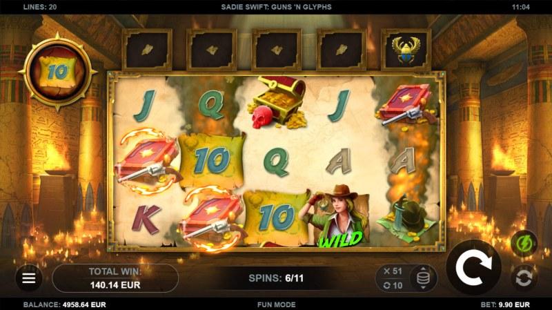 Sadie Swift Gun's n Glyphs :: Multiple winning paylines
