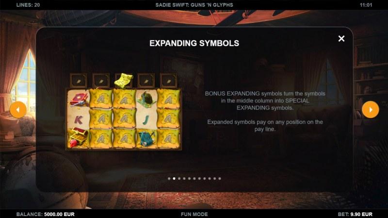 Sadie Swift Gun's n Glyphs :: Expanding Symbol