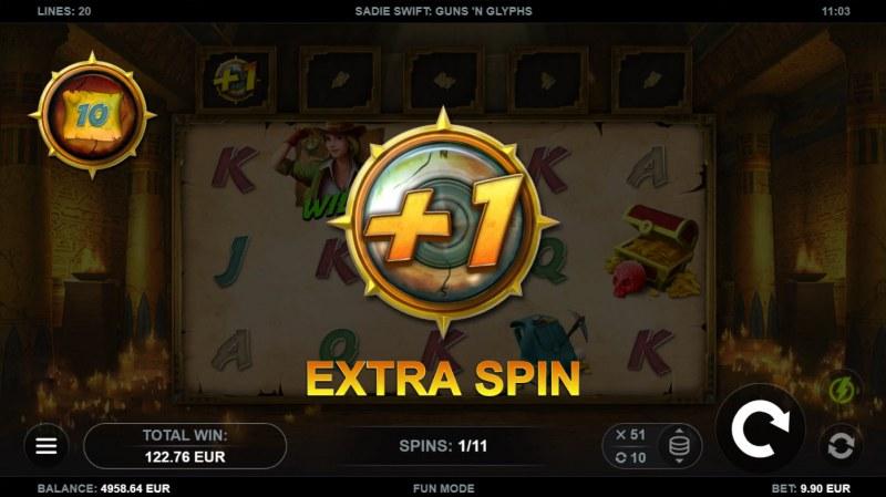 Sadie Swift Gun's n Glyphs :: Extra free spin awarded