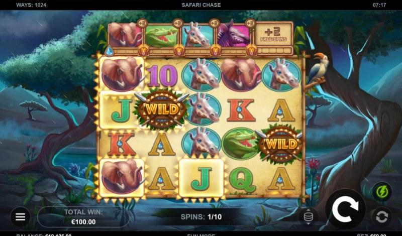 Safari Chase :: Free Spins Game Board