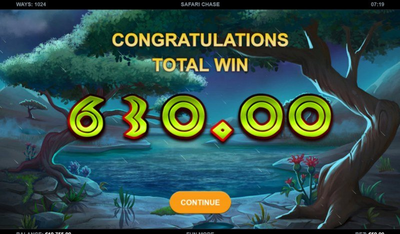 Safari Chase :: Total Free Spins Payout