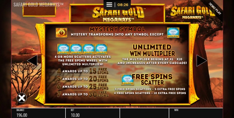 Safari Gold Megaways :: Free Spins Rules