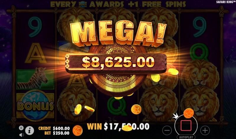 Play slots at Intercasino: Intercasino featuring the Video Slots Safari King with a maximum payout of $250,000