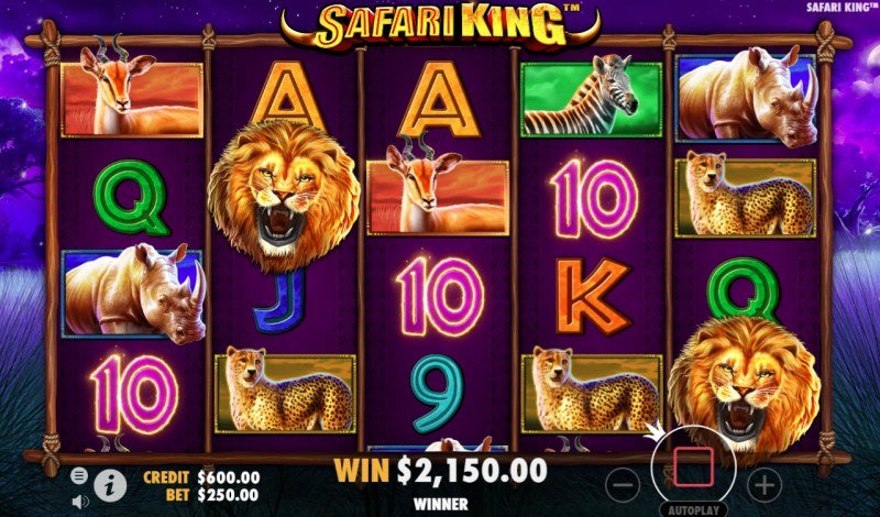 Safari King :: Multiple winning paylines