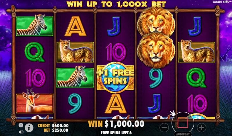 Safari King :: Free Spins Game Board