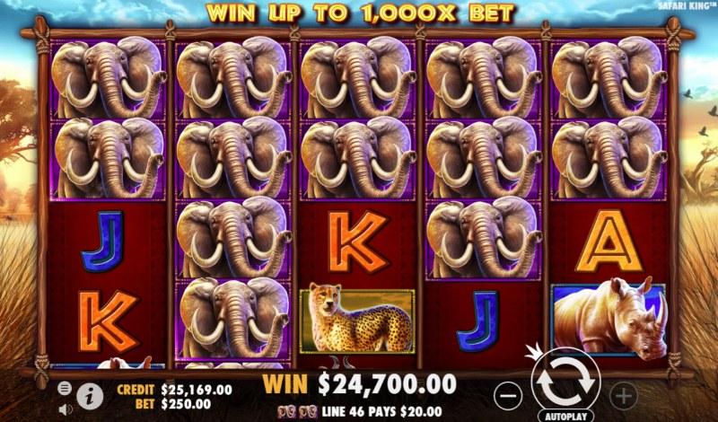 Safari King :: Multiple winning combinations