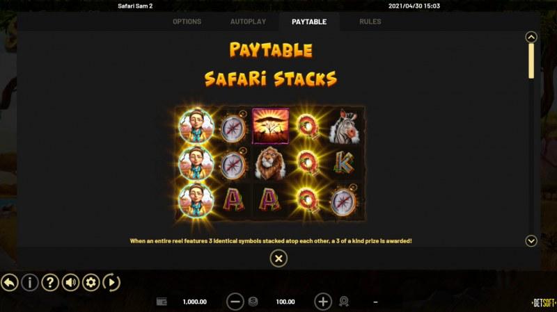 Safari Sam 2 :: Feature Rules