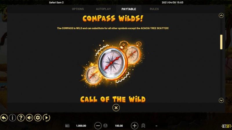 Safari Sam 2 :: Wild Symbol Rules