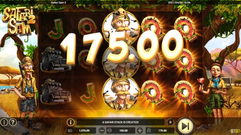 Safari Sam 2 :: Full stacks trigger a payout
