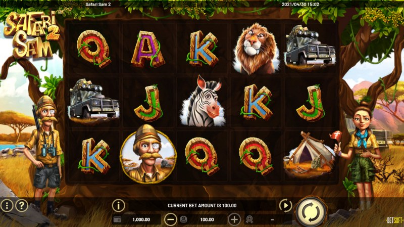Safari Sam 2 :: Main Game Board