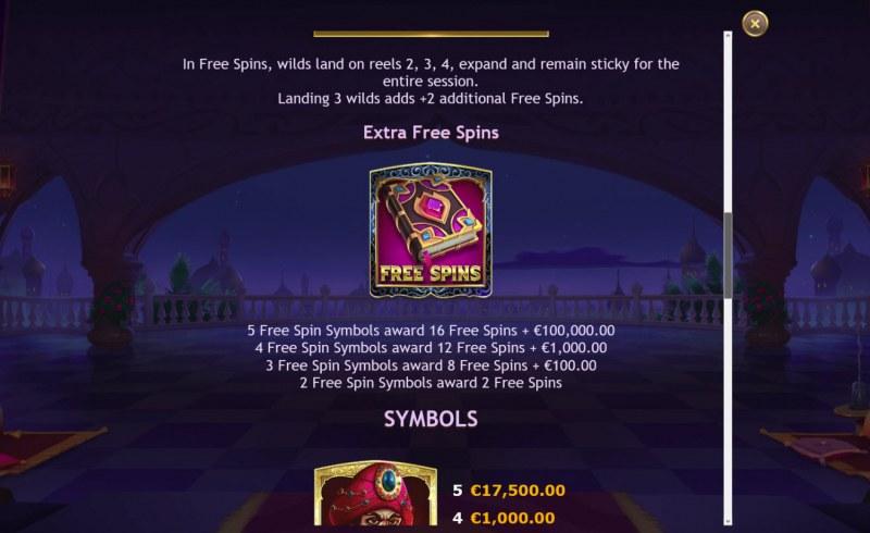 Sahara Nights :: Free Spins Rules