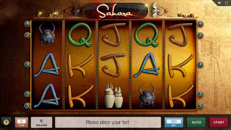 Sahara :: Main Game Board