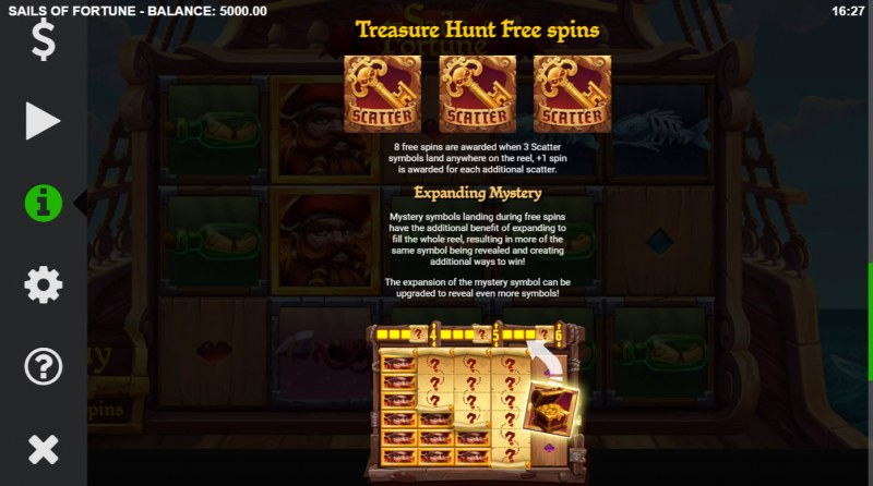 Sails of Fortune :: Treasure Hunt Free Spins