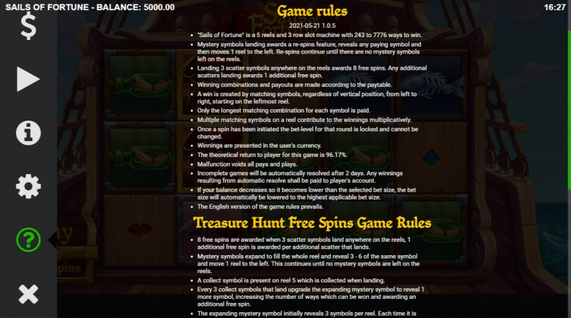 Sails of Fortune :: General Game Rules