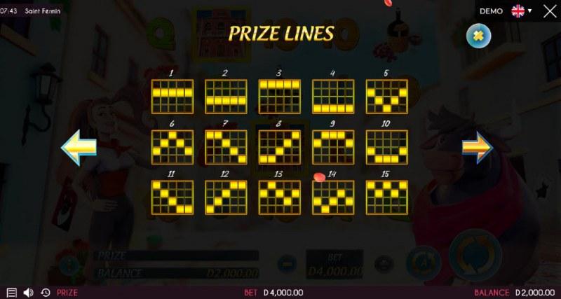 Saint Fermin :: Prize Lines 1-15