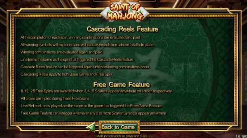 Saint of Mahjong :: Feature Rules