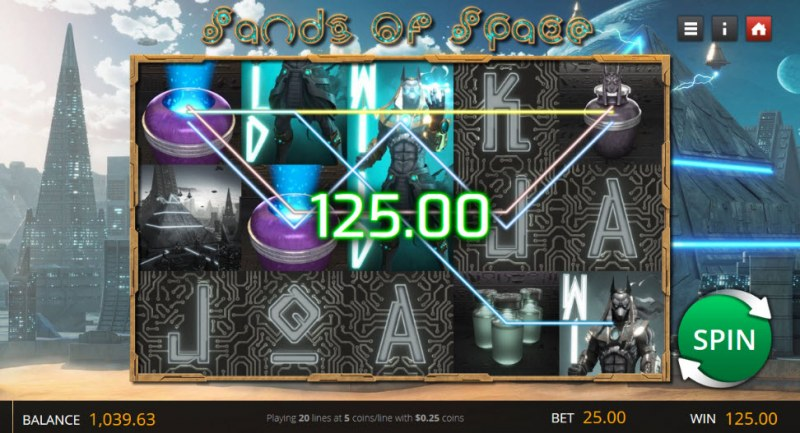 Sands of Space :: Multiple winning paylines