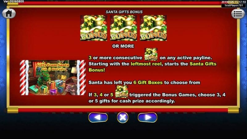 Santa Gifts :: Bonus Game Rules