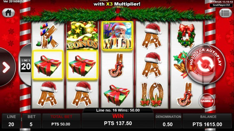 Santa Gifts :: Multiple winning paylines