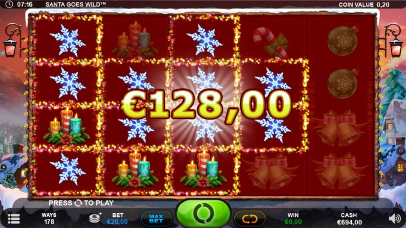 Santa Goes Wild :: Multiple winning combinations
