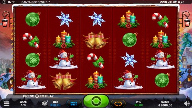 Santa Goes Wild :: Main Game Board