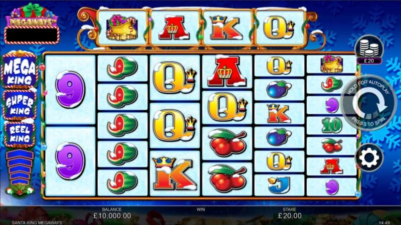 Santa King Megaways :: Base Game Screen